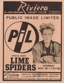 PiL - Chicago, Riviera Theater, USA 28.11.87 Flyer