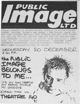PiL Brusells 1978 poster © unknown