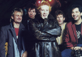 PiL Cabaret Band, Autumn 1983: Lou Bernardi, Atkins, Lydon, Arthur Stead, Joe Guida © unknown
