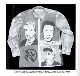 One of Mark Gray's PiL shirts; circa 1978