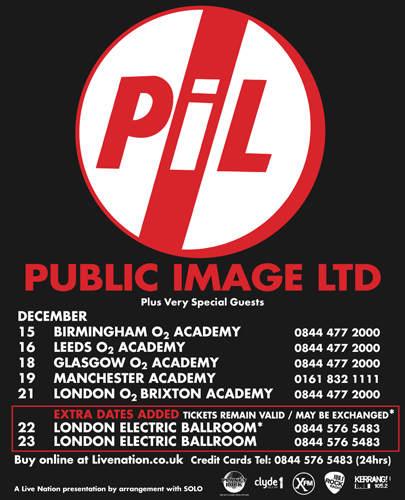 Public Image Ltd Tour Uk
