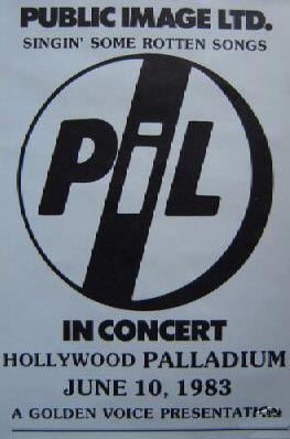 LA, Hollywood Palladium June 10th 1983 Gig Poster