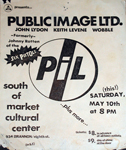 PiL - San Francisco, South of Market Cultural Center, USA 10.5.80Flyer / Poster