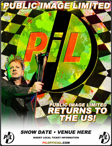 PiL - April / May 2010 North American Tour Poster / Advert